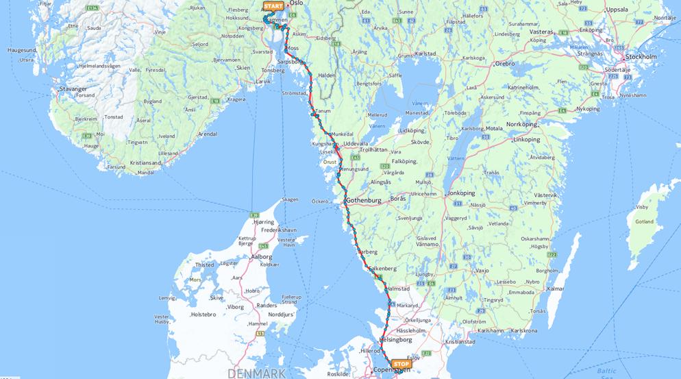 kart kjørerute norge sverige kjorerute_sverige   iTracker Bedrift kart kjørerute norge sverige
