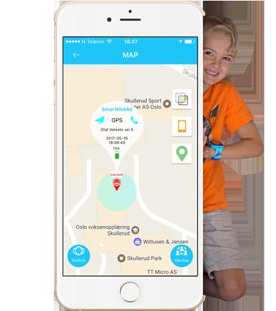 Track WP app GPS klokke til barn