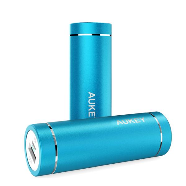 Power Bank Aukey 5000 mAh, blå