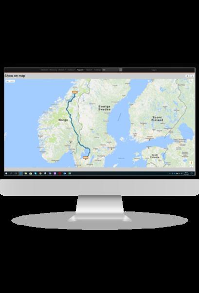 iTracker pc portal, kartvisning GPS Tracker