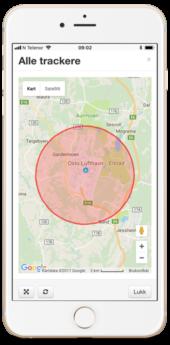 ITracker app GPS Tracker, Geofence