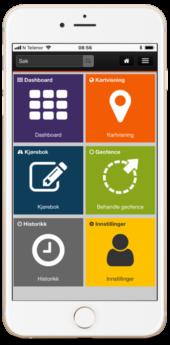 ITracker app GPS Tracker, dashbord